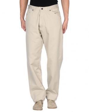 Джинсовые брюки SURFACE TO AIR. Цвет: светло-серый