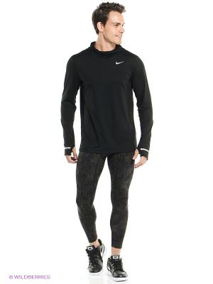 Тайтсы Nike. Цвет: темно-коричневый