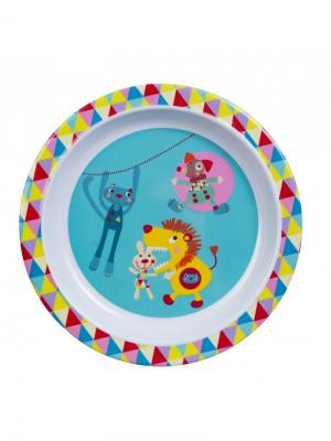 Тарелочка Волшебный цирк Ebulobo. Цвет: голубой, красный, розовый, желтый, белый