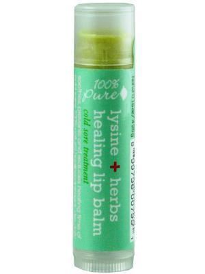 Бальзам для губ Лизин+Лечебные травы 100% Pure. Цвет: прозрачный
