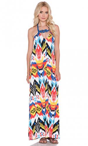 Макси платье T-Bags LosAngeles. Цвет: синий