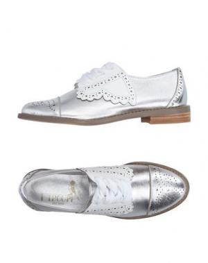 Обувь на шнурках F-TROUPE. Цвет: серебристый