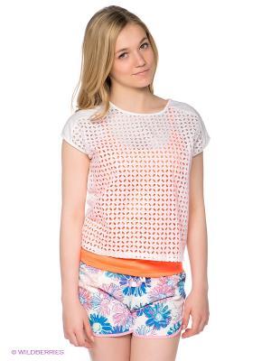 Блузка PEPE JEANS LONDON. Цвет: белый, оранжевый