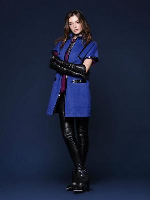 Пальто LUIGI FERRO. Цвет: синий, черный