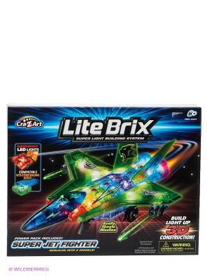 Конструктор Самолет Lite Вrix. Цвет: черный, синий