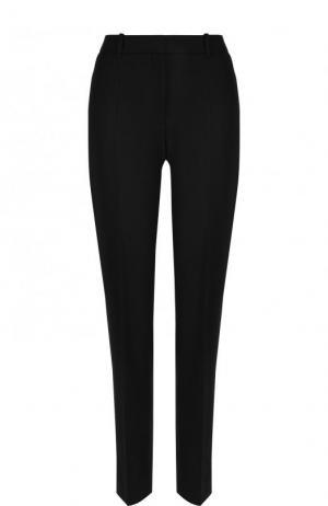 Однотонные брюки прямого кроя со стрелками BOSS. Цвет: черный