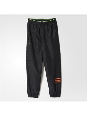 Трикотажные брюки дет. спорт. YB MESSI WV PT Adidas. Цвет: черный