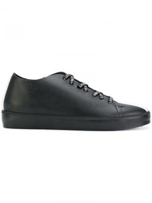 Кеды со шнуровкой Leather Crown. Цвет: чёрный