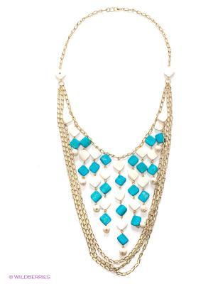 Ожерелье ГАНГ. Цвет: голубой