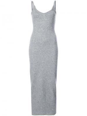 Облегающее платье-топ Sally Lapointe. Цвет: серый
