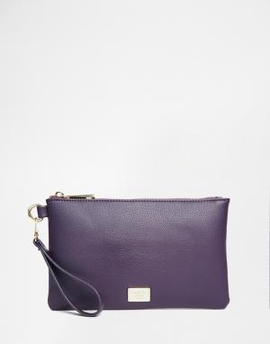 Marc B Сумочка цвета индиго с застежкой-молнией и ремешком на запястье. Цвет: синий
