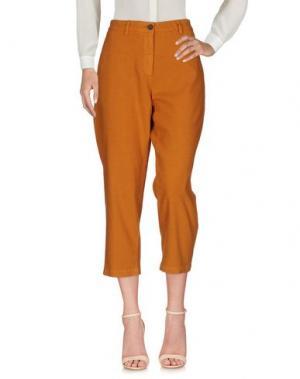 Повседневные брюки INX #THINK COLORED. Цвет: ржаво-коричневый