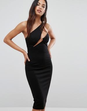 AQ Платье миди AQ/AQ. Цвет: черный