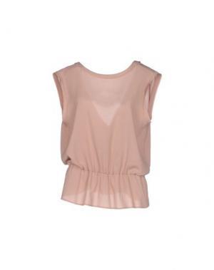 Блузка SIMONA MARTINI. Цвет: телесный