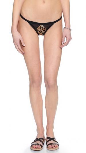 Двусторонние плавки бикини Cruz Tyler Rose Swimwear. Цвет: леопардовый/черный