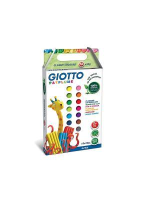 GIOTTO PATPLUME пластилин. 18 цв х 20 гр FILA. Цвет: белый, зеленый, желтый