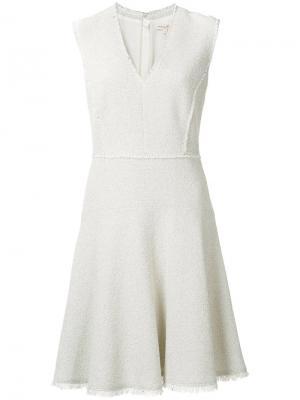 Расклешенное платье Rebecca Taylor. Цвет: телесный