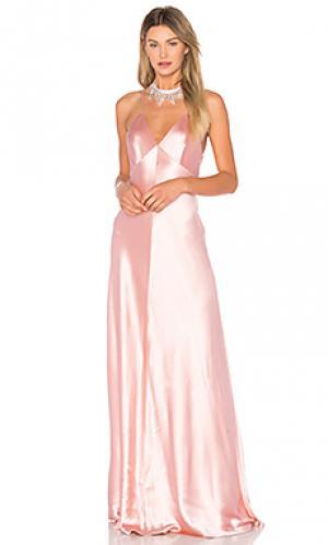 Атласное платье-комбинация JILL STUART. Цвет: розовый