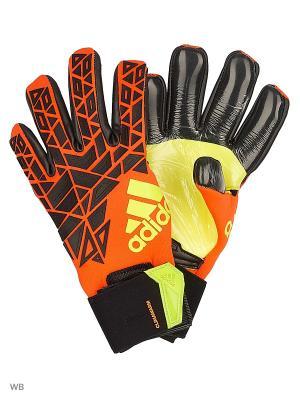 Вратарские перчатки взр. ACE TRANS CLIMA  SOLRED/BLACK/SYELLO Adidas. Цвет: красный, салатовый, черный