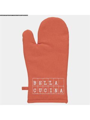 Набор из 2-х варежек-прихваток BELLA Aquanova. Цвет: красный