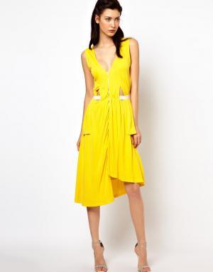 Sophia Kokosalaki Платье с драпировкой и боковыми вставками Kore by. Цвет: watermelon 6146,77