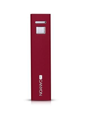 Портативный аккумулятор CNE-CSPB26R, 2600 мАч CANYON. Цвет: красный