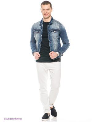 Куртка Oodji. Цвет: синий, светло-голубой