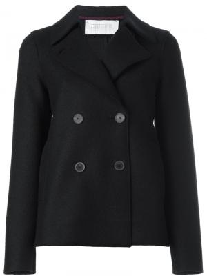 Короткое пальто-бушлат Harris Wharf London. Цвет: синий