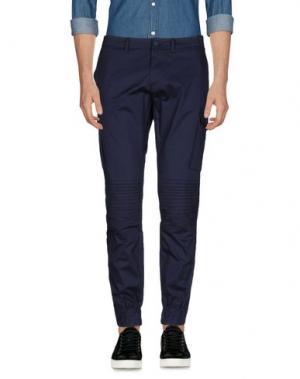 Повседневные брюки HŌSIO. Цвет: грифельно-синий