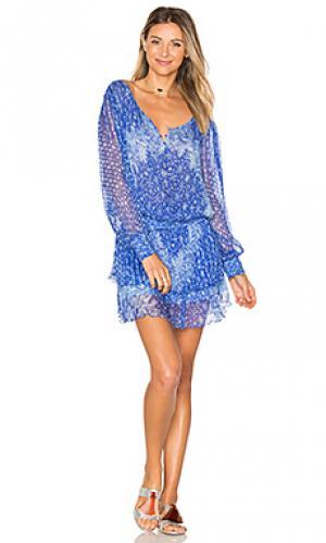 Платье jolie Poupette St Barth. Цвет: синий