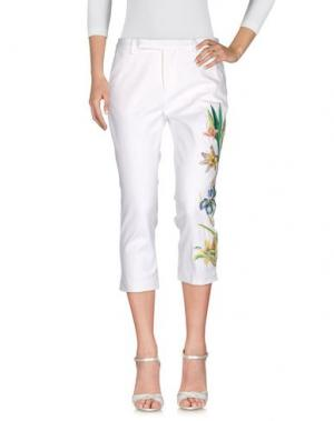 Джинсовые брюки FEMME by MICHELE ROSSI. Цвет: белый