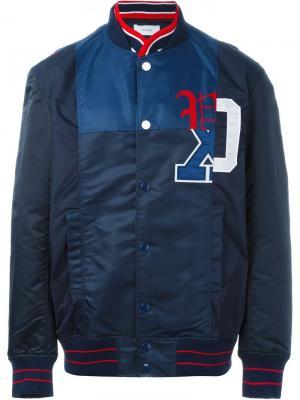 Куртка-бомбер с принтом логотипа Facetasm. Цвет: синий