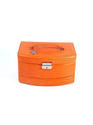 Шкатулка для ювелирных украшений CALVANI. Цвет: оранжевый, бежевый
