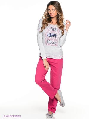 Комплект одежды Vienetta Secret. Цвет: серый, фуксия