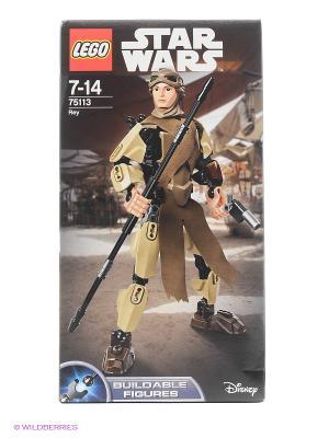 Игрушка Звездные войны Рей 75113 Star Wars LEGO. Цвет: коричневый