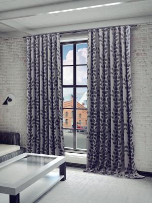 Готовая штора SANPA HOME COLLECTION. Цвет: серый