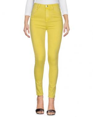 Джинсовые брюки YES ZEE by ESSENZA. Цвет: светло-желтый