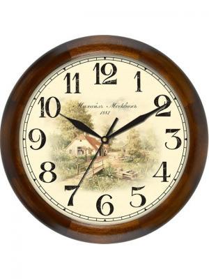 Часы настенные Михаилъ Москвинъ. Цвет: темно-коричневый