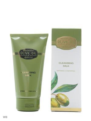 Очищающее молочко Olive Oil of Greece 150 ml. Цвет: белый, зеленый, золотистый, оливковый