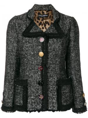 Твидовый жакет Dolce & Gabbana. Цвет: чёрный