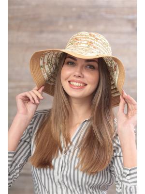 Шляпа Krife. Цвет: бежевый, белый