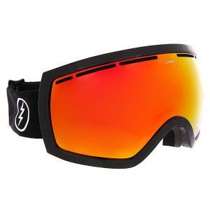 Маска для сноуборда  Eg2.5 Gloss Black Brose/Red Chrome Electric. Цвет: черный