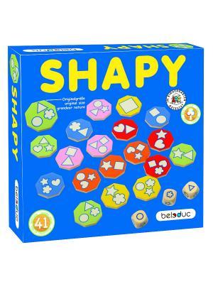 Развивающая игра Шейпи Beleduc. Цвет: светло-голубой