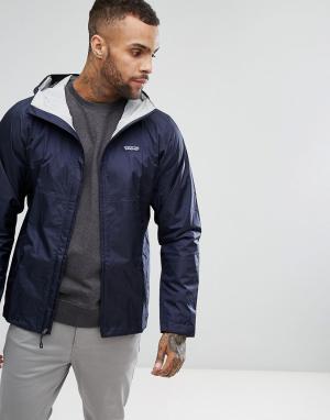 Patagonia Темно-синяя непромокаемая куртка Torrentshell. Цвет: темно-синий