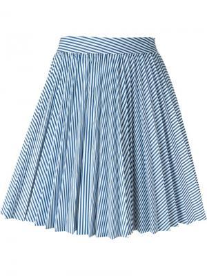 Плиссированная юбка Cristiano Burani. Цвет: белый
