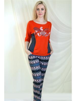 Пижама Miata. Цвет: оранжевый, серый