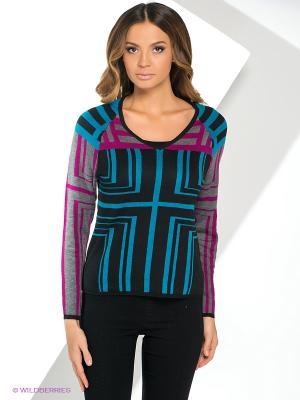 Пуловер Yuka. Цвет: черный, серый, фуксия