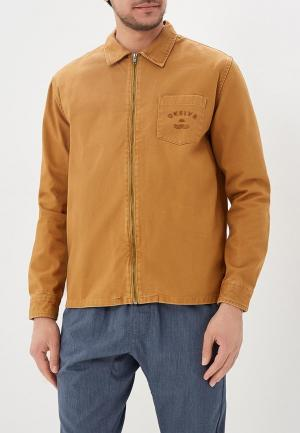 Куртка джинсовая Quiksilver. Цвет: коричневый