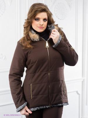 Куртка Cellini. Цвет: коричневый