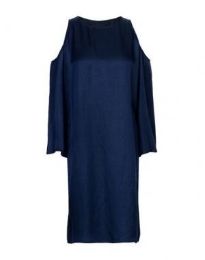 Короткое платье FABRIZIO LENZI. Цвет: темно-синий